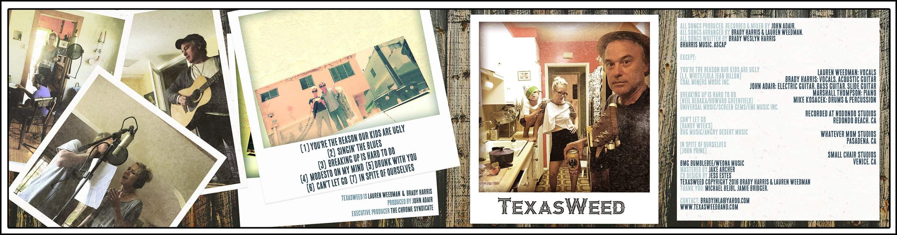 Texasweed digipak album layout