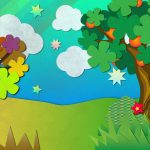 Magical Garden background illustration for web